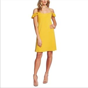 CeCe NWT Bohemian Bazaar Col Shoulder Dress XS $99